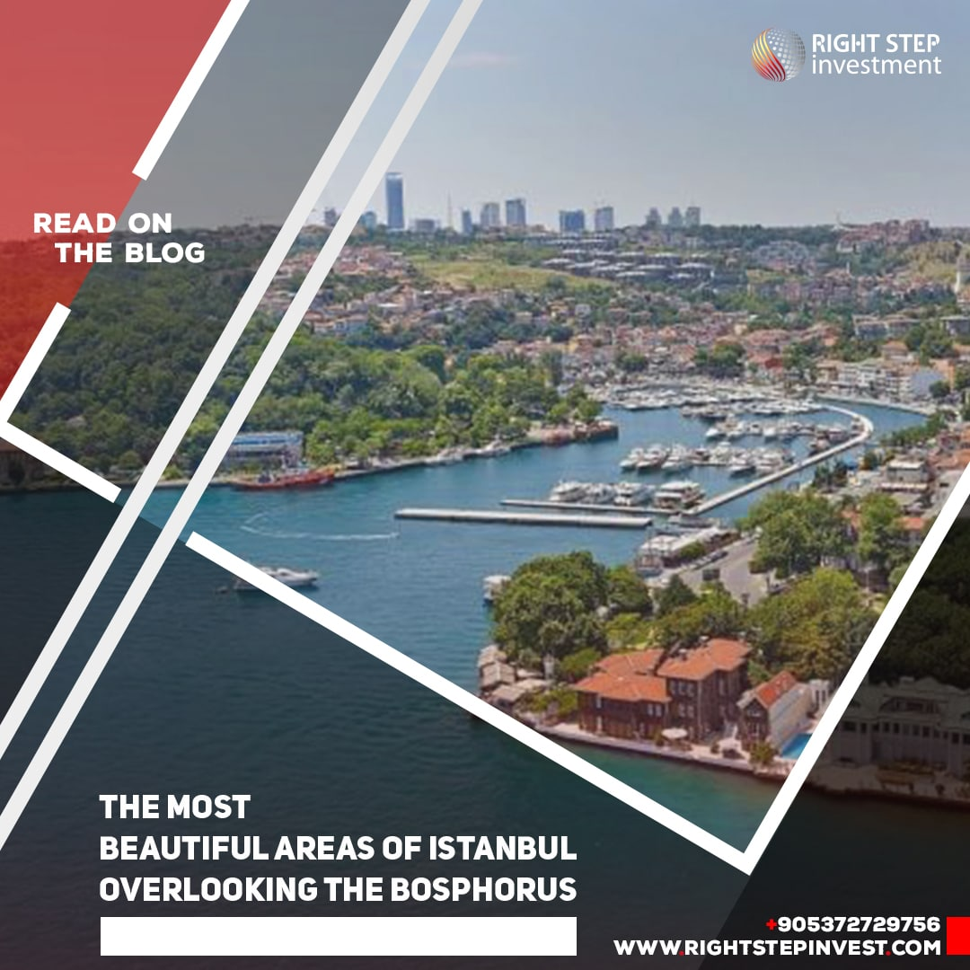 The most beautiful areas of Istanbul overlooking the Bosphorus